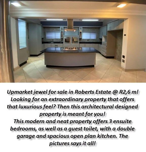 Upmarket jewel in Roberts Estate