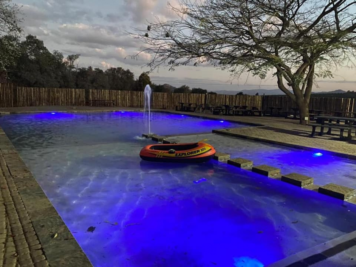 New pool at guesthouse in White River
