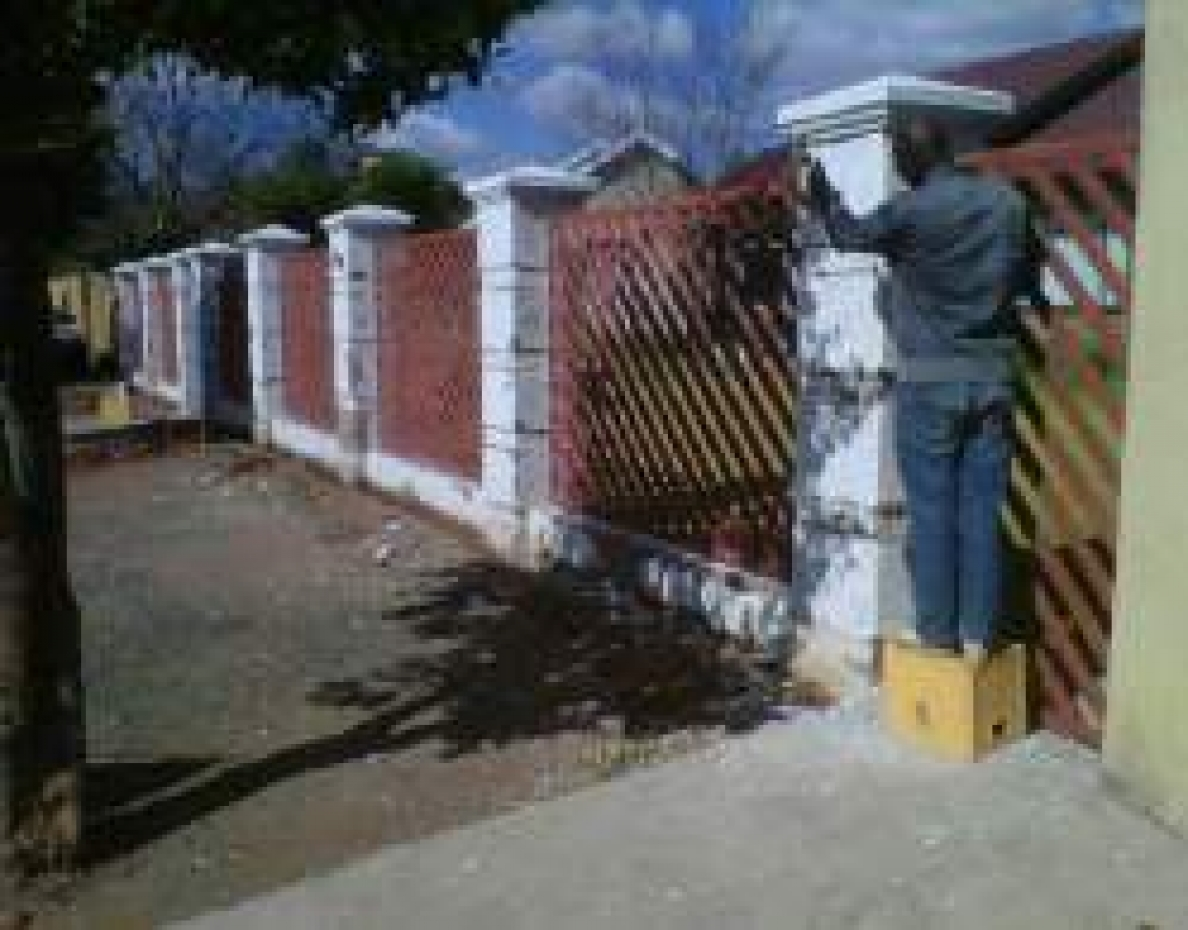 Boundary Wall Before