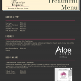 Finesse Express Treatment Menu