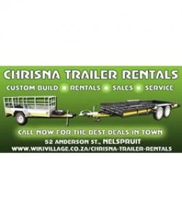 Chrisna Trailer Manufacturing, Rentals & Parts